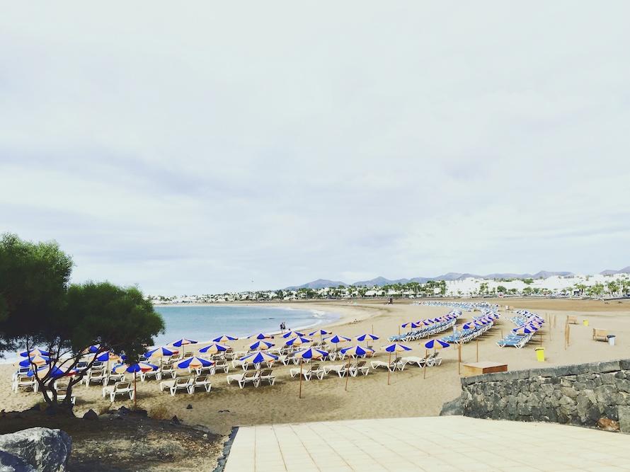 Lanzarote Playa Strand Radtour
