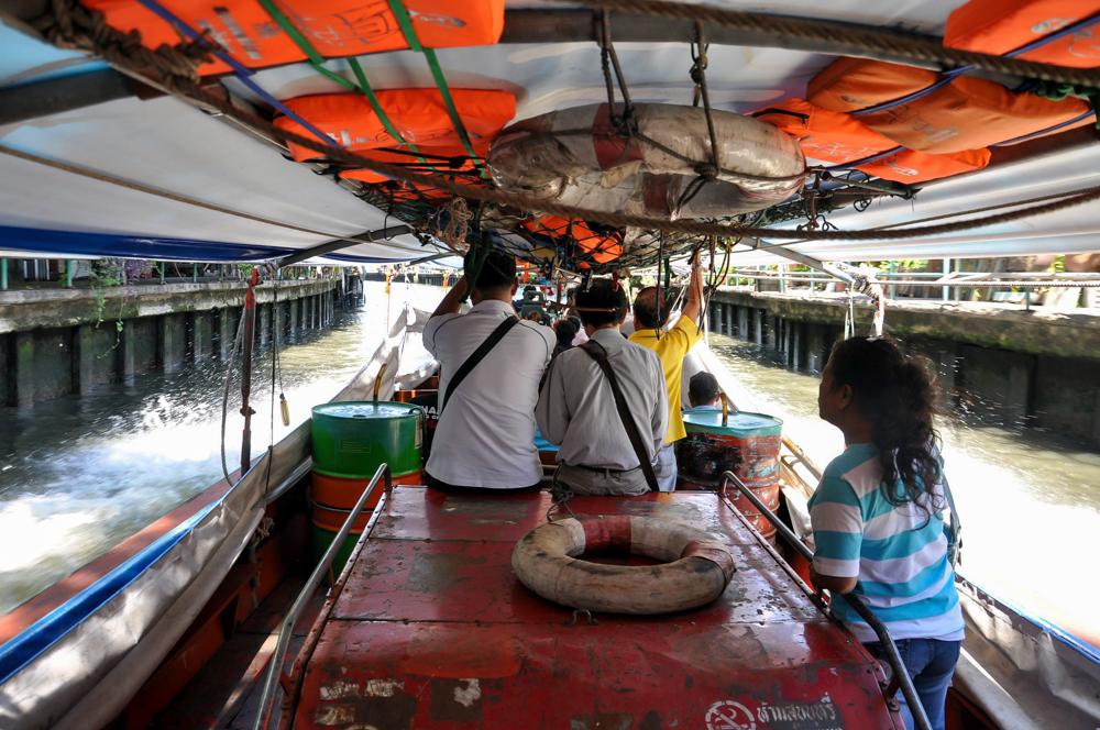 Bangkok Thailand Taxiboot Khlong