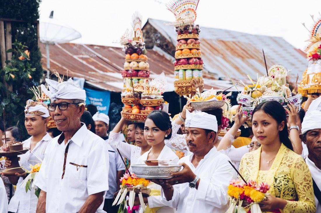 Balinesen bei einer Zeremonie