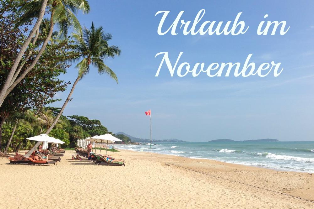 Urlaub im November
