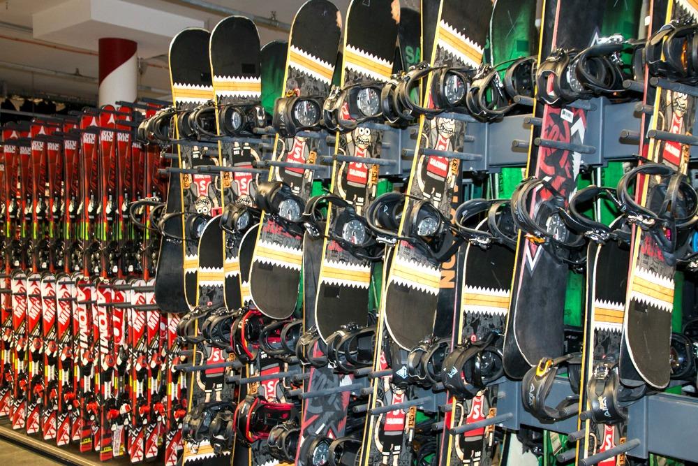 Ausrüstung Skihalle Neuss