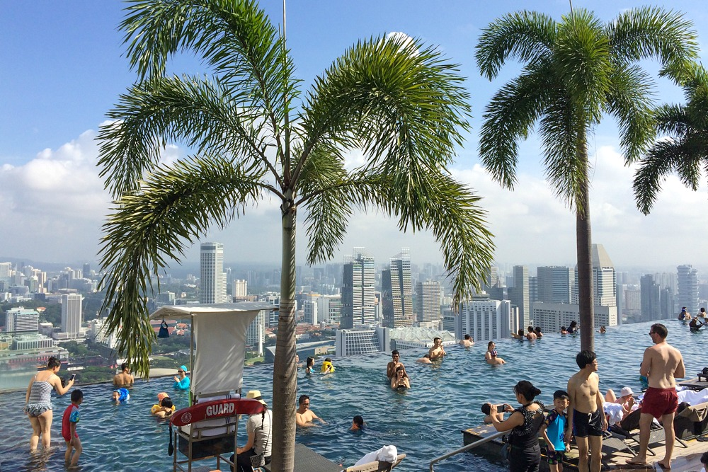 h chster infinity pool der welt marina bay sands hotel singapur reiseblog travel on toast. Black Bedroom Furniture Sets. Home Design Ideas