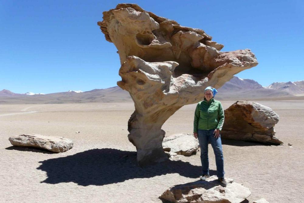 Reiseblogger Anja Beckmann auf ihrer Weltreise in Bolivien