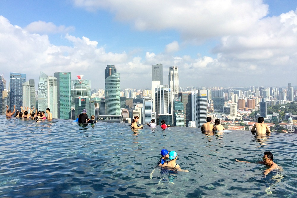 Infinity Pool Singapur Marina Bay Sands Hotel Singapore