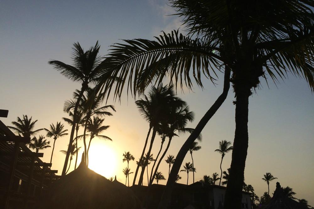 1 Sonnenuntergang Aruba Karibik