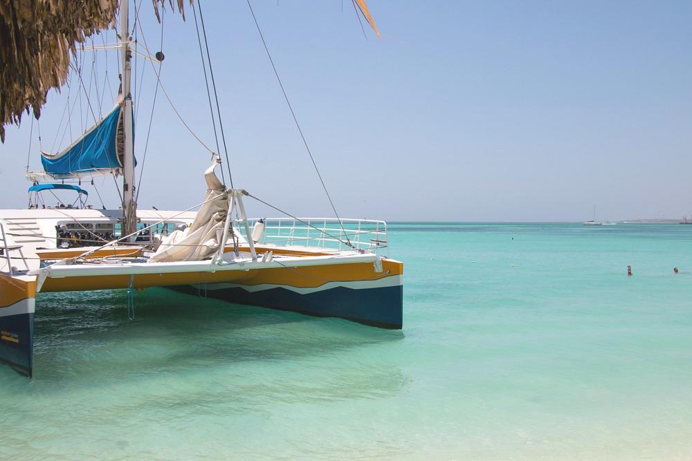 Aruba Karibik Palm Beach Katamaran