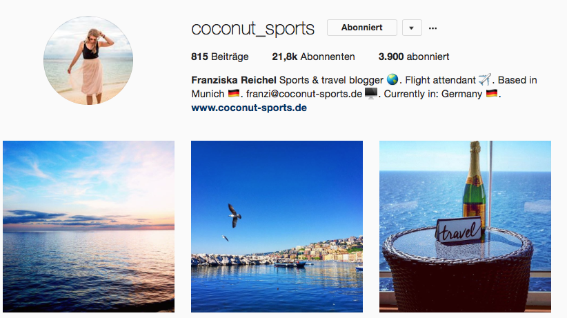Coconut Sports auf Instagram