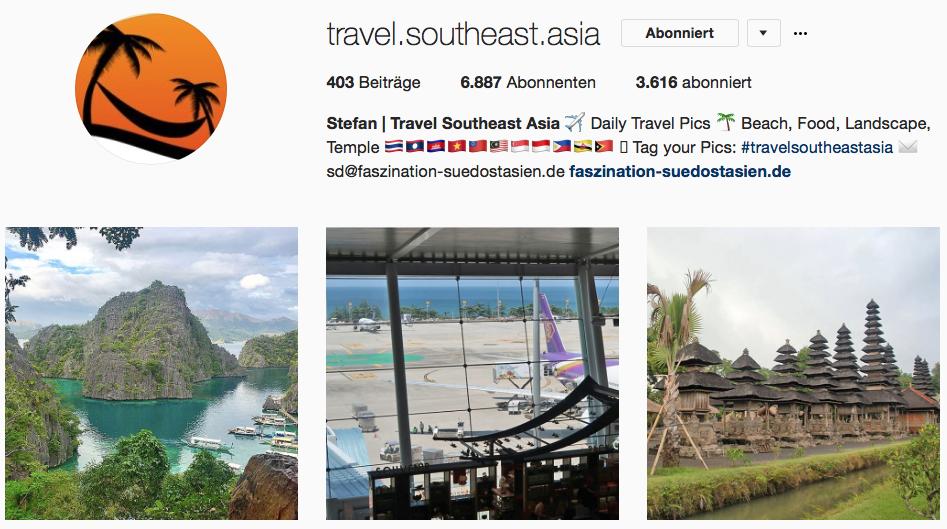 Faszination Südostasien auf Instagram