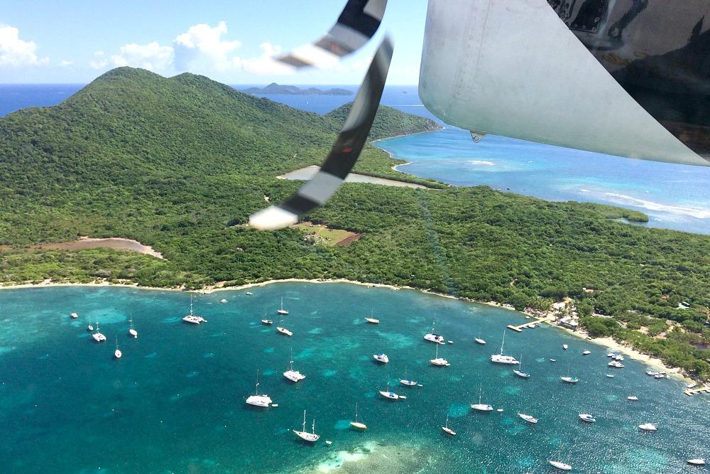 Flug Karibik Propellermaschine