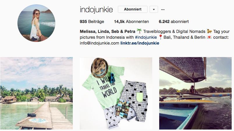 Indojunkie auf Instagram