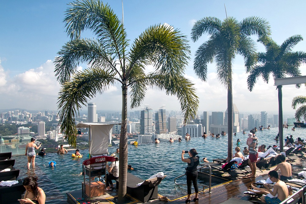 Infinity Pool Marina Bay Sands Hotel Singapur Reiseblog