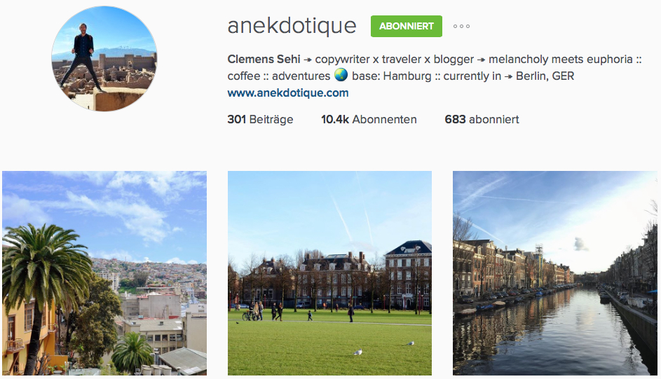 Instagram Reiseblog Anekdotique