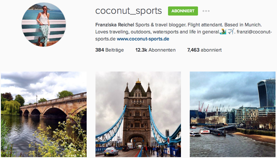 Instagram Reiseblog Coconut Sports