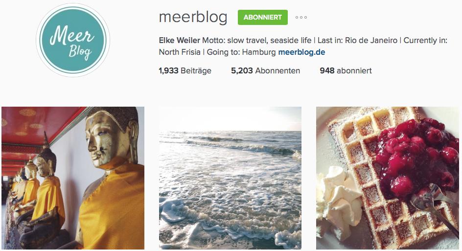 Instagram Reiseblog Meerblog
