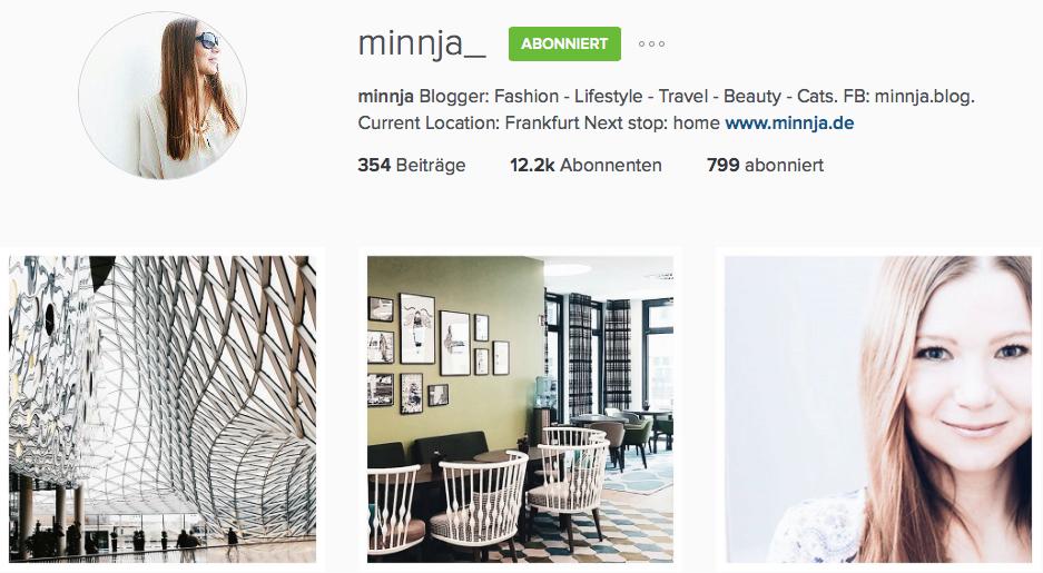 Instagram Reiseblog Minnja