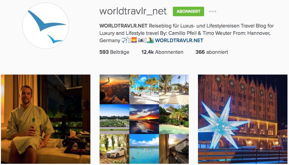 Instagram Reiseblogger Worldtravlr