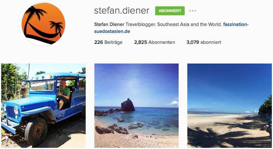 Instagram Reiseblogs Faszination Südostasien
