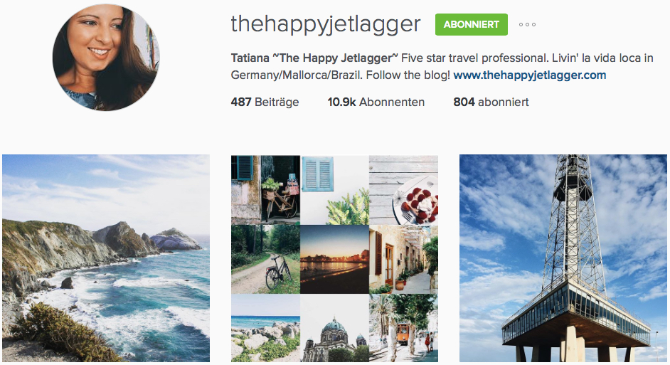 Instagram Reiseblogs The Happy Jetlagger