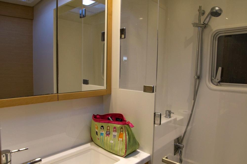 Katamaran Segeltörn Waschraum