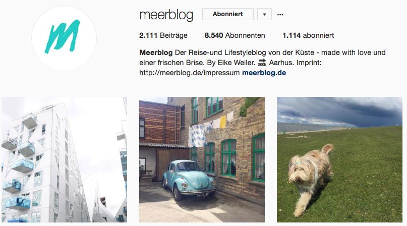 Meerblog auf Instagram