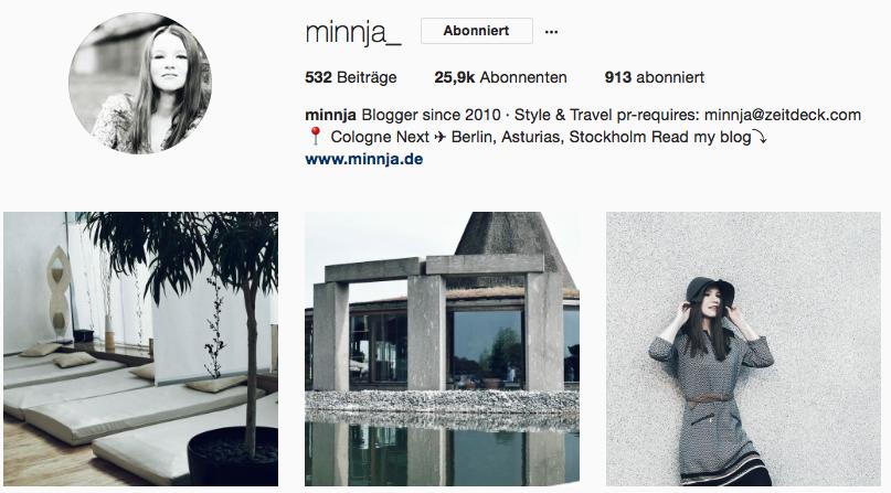Minnja auf Instagram