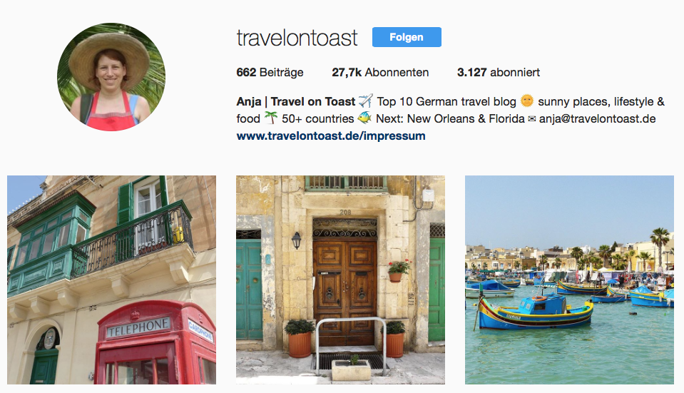Travel on Toast auf Instagram