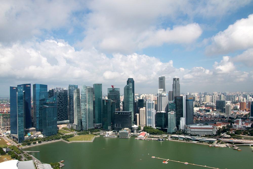 Singapore Singapur Skyline