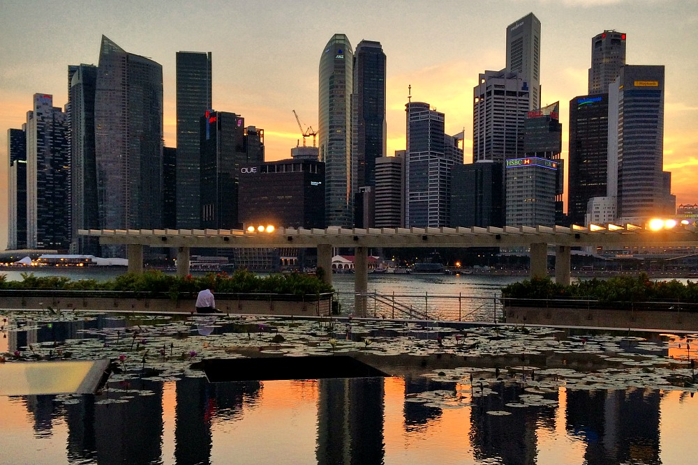 Singapore Skyline Sunset