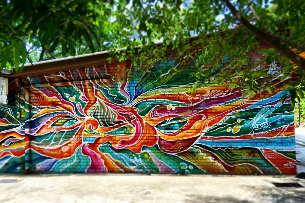 Singapore Street Art - SlacSatu Batik