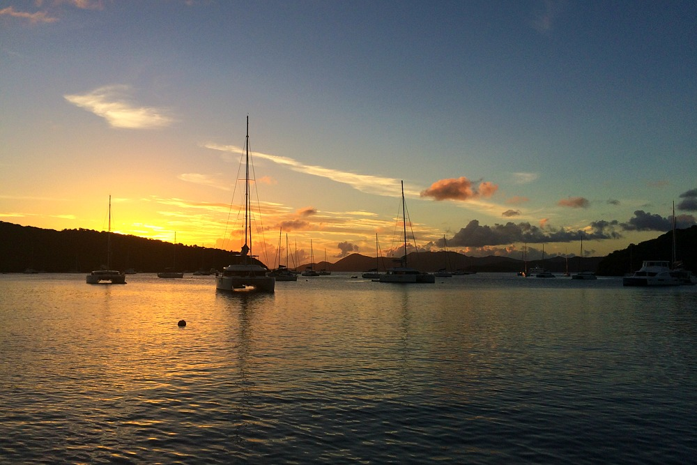 Sunset Sail Yacht British Virgin Islands