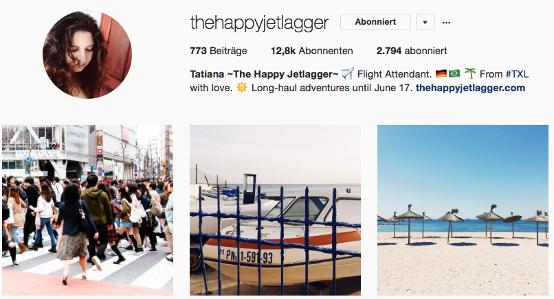 The Happy Jetlagger auf Instagram