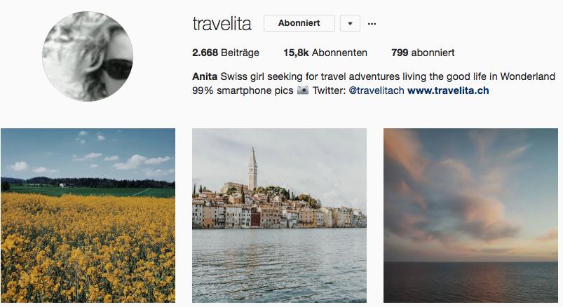 Travelita auf Instagram