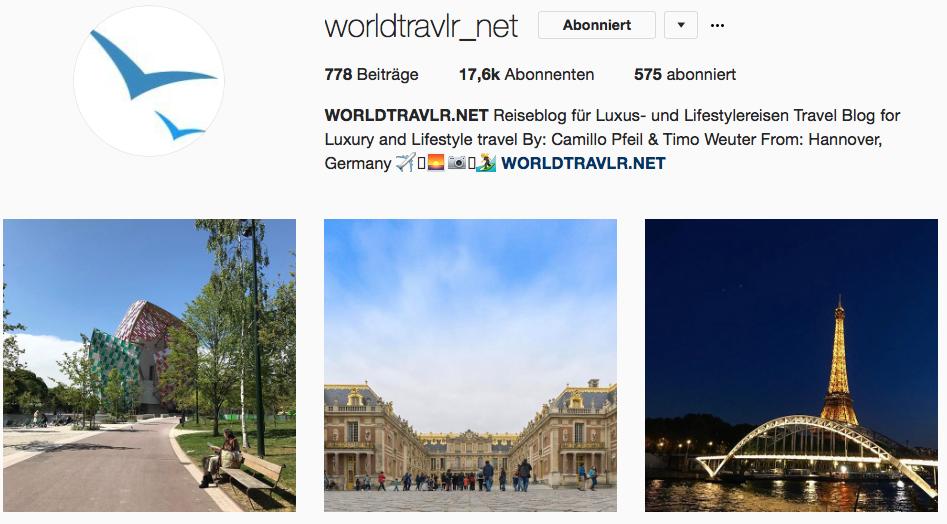 Worldtravlr auf Instagram