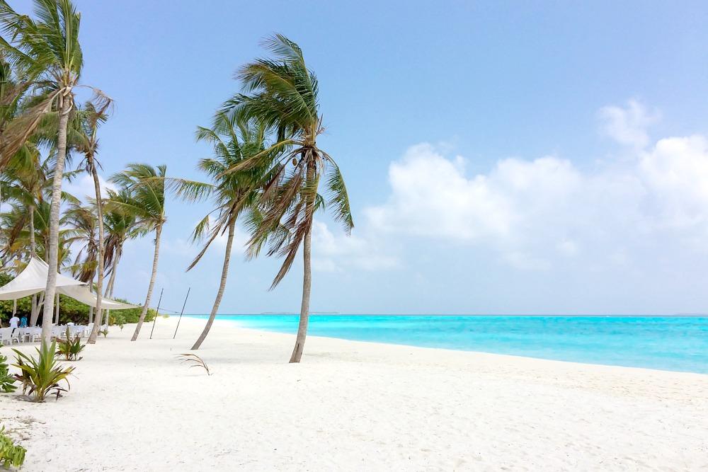 Hondaafushi Malediven Strand Reiseblog