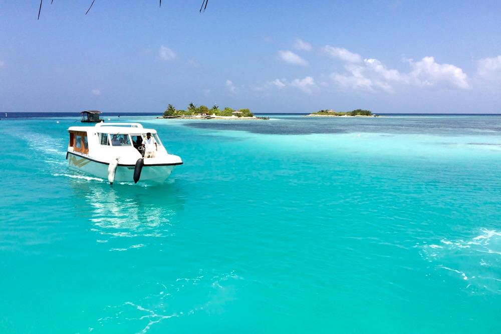 Malediven Boot Meer
