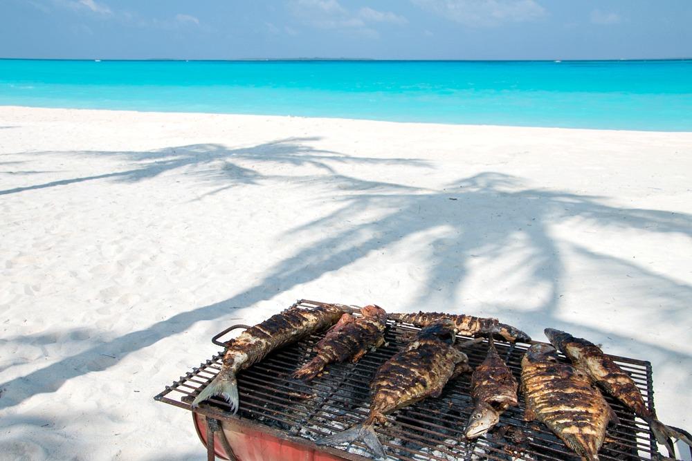 Malediven Hondaafushi Beach Barbecue