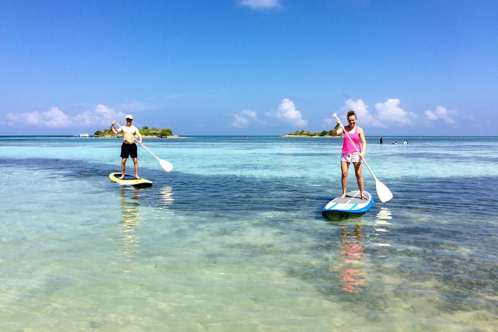 Stand Up Paddling SUP Malediven Wassersport