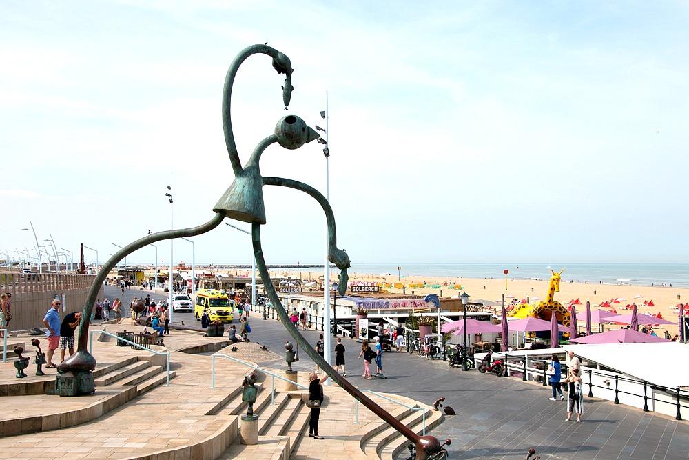 Strandpromenade Meer Den Haag Scheveningen Holland