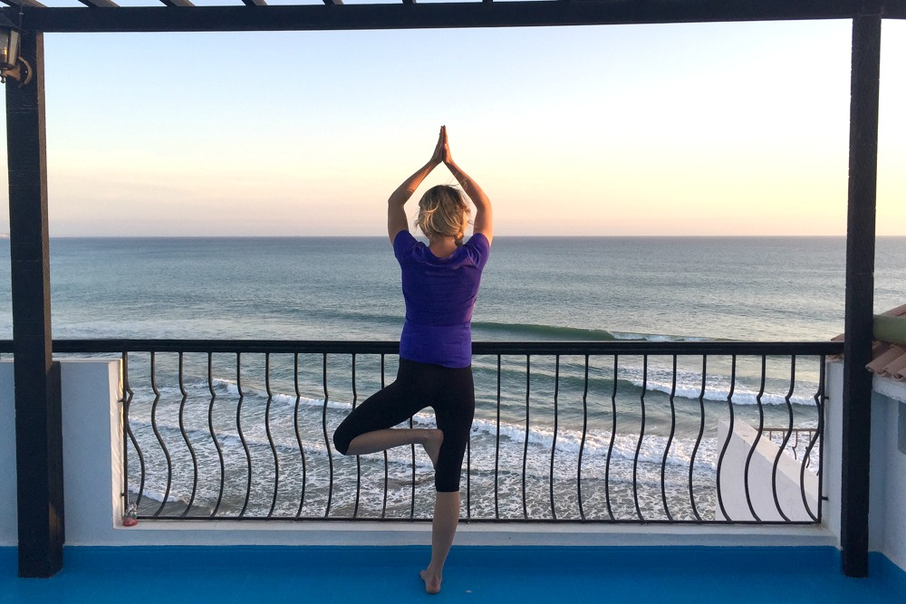 Yoga Taghazout Marokko Meer