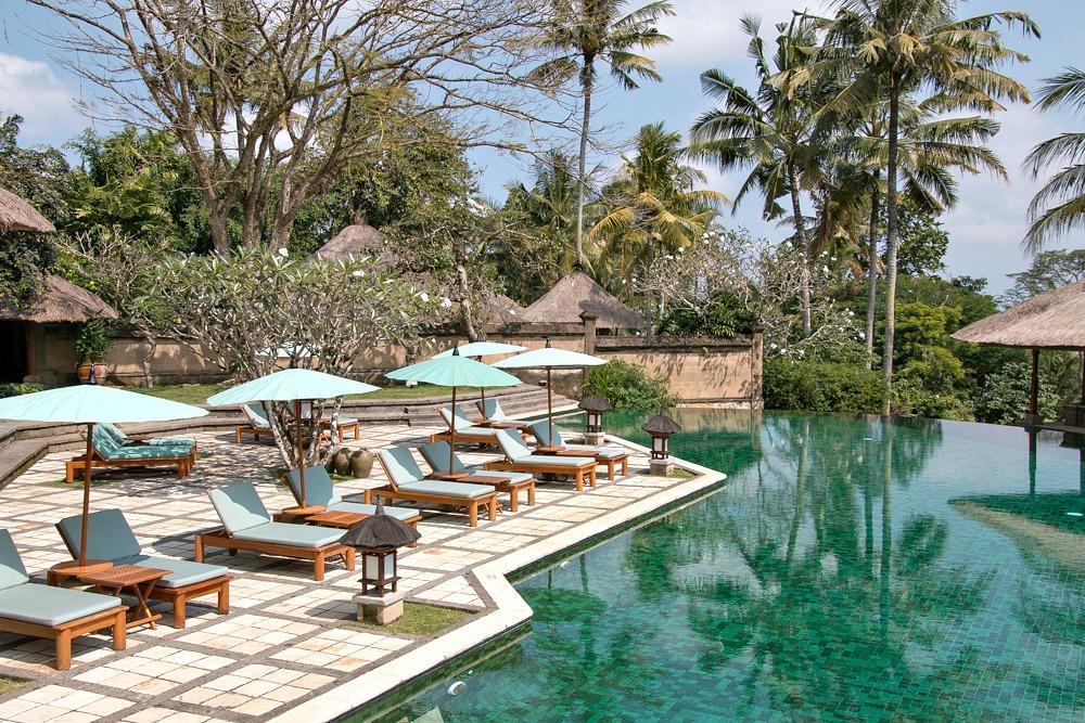 Infinity Pool Luxushotel Amandari Bali Ubud