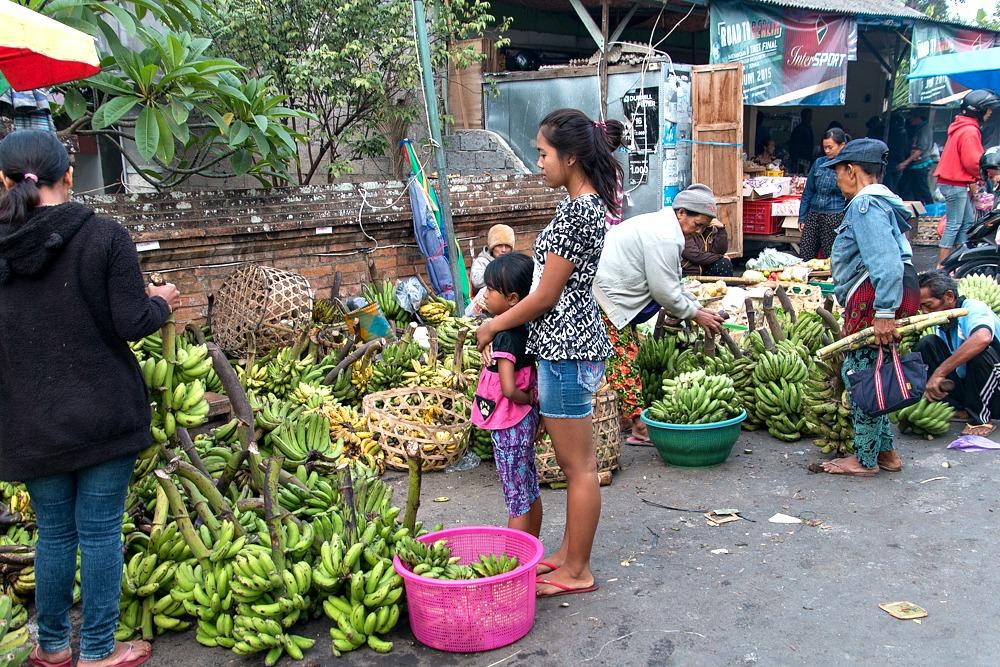 Markt Indonesien Menschen