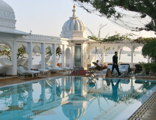 Taj Lake Palace Hotel in Udaipur, Indien