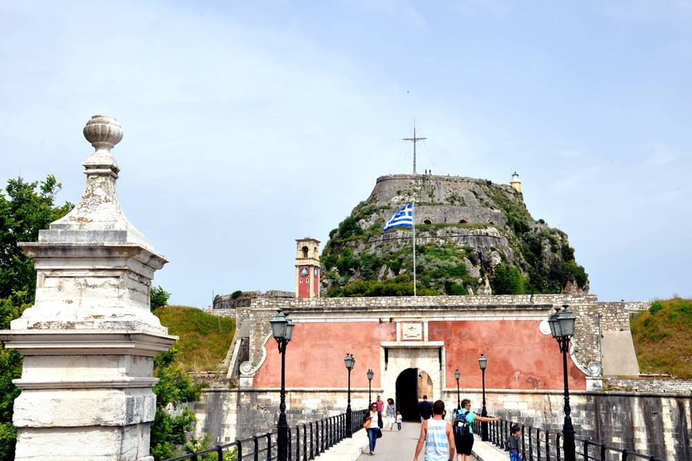 8_Eingang Alte Festung Korfu Stadt Altstadt