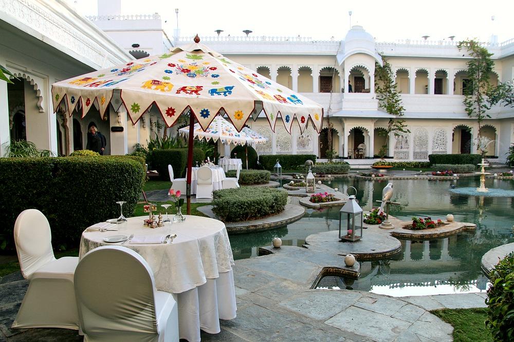 Taj Lake Palace Hotel Udaipur Indien Abendessen
