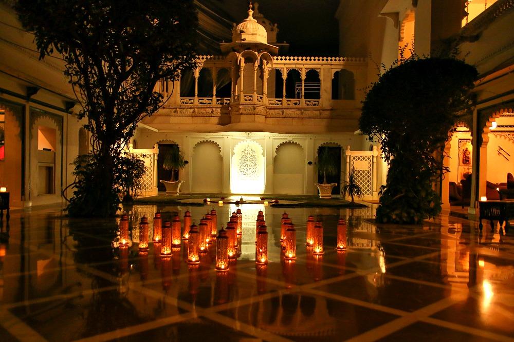 Taj Lake Palace Hotel Udaipur Indien Nacht
