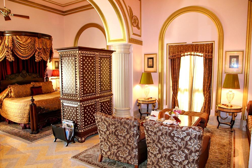 Taj Lake Palace Hotel Udaipur Indien Zimmer