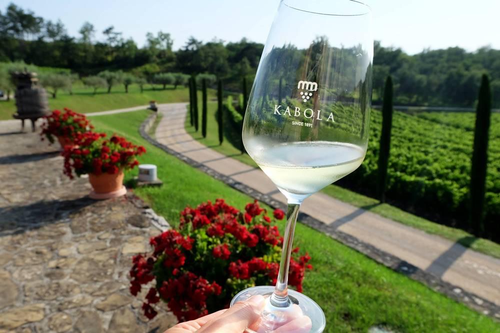 Bild 14 Weingut Kabola Weinglas Wein Istrien Kroatien