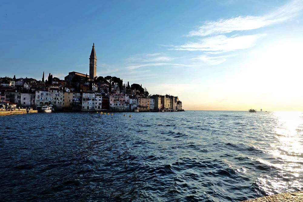 Bild 18 Stadt Rovinj Sonnenuntergang Istrien Kroatien