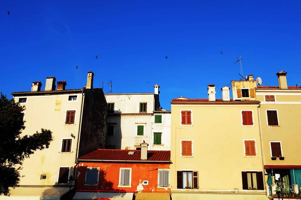 Bild 22 Häuser Rovinj Istrien Kroatien