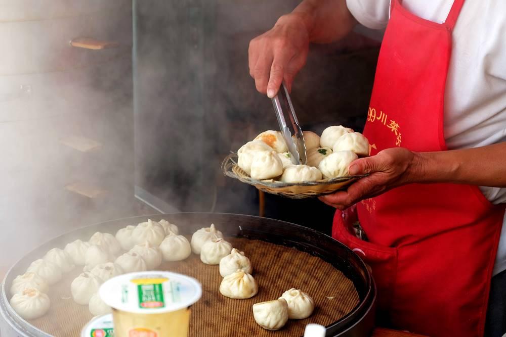 12 Yantai Straßenstand Shandong China Baozi Essen Küche Reiseblog Reiseblogger
